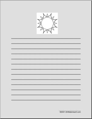 abcteach printable writing paper writing paper sun primary abcteach