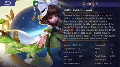 change mobile legend chang e features 2018 mobile legends
