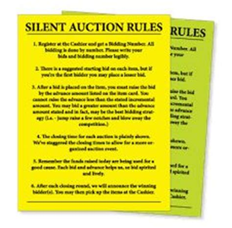 silent auction catalog template free printable silent auction templates search