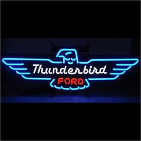 neon sign ford thunderbird