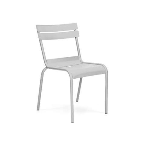 Galvanized Bistro Chair Massima White Indoor Outdoor Galvanized Side Chair Metalrestaurantchairs