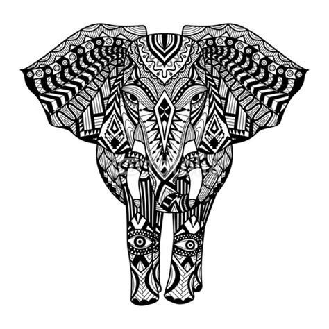 coloring pages tribal elephant download elephant coloring pages for adults