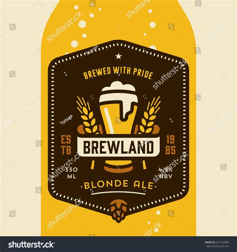 design beer label illustrator original retro home brew beer bottle stock vector