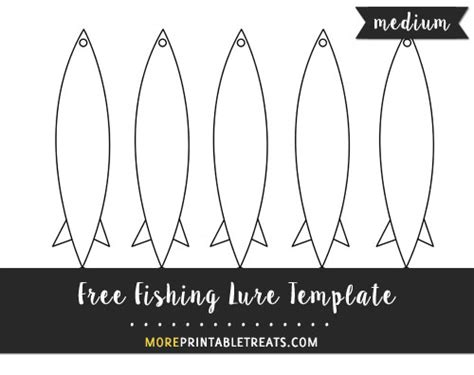 fishing lure template medium