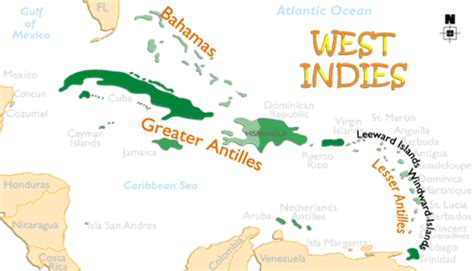 west indies map  information page
