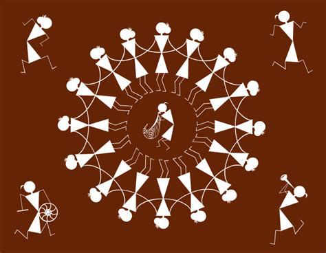 pictures of designs stripgenerator com warli art dancing