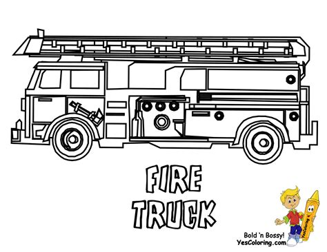 Service Transportation Coloring Emergency Vehicles Firetruck Color Page