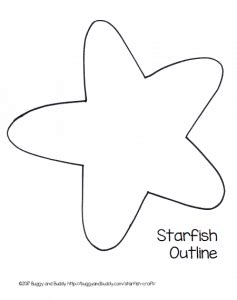 template of starfish easy starfish craft for with free printable template buggy and buddy