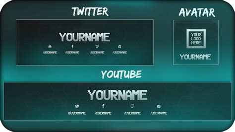 free social media graphics pack twitch youtube twitter