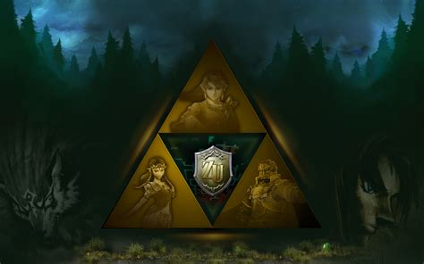 Link Triforce The Legend Of Princess Iphone All Hp The Legend Of Twilight Princess Hd Wallpaper