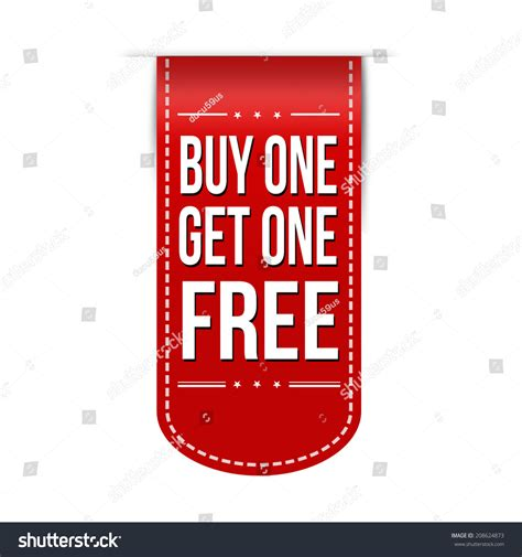 where to buy one buy one get one free banner design a white background
