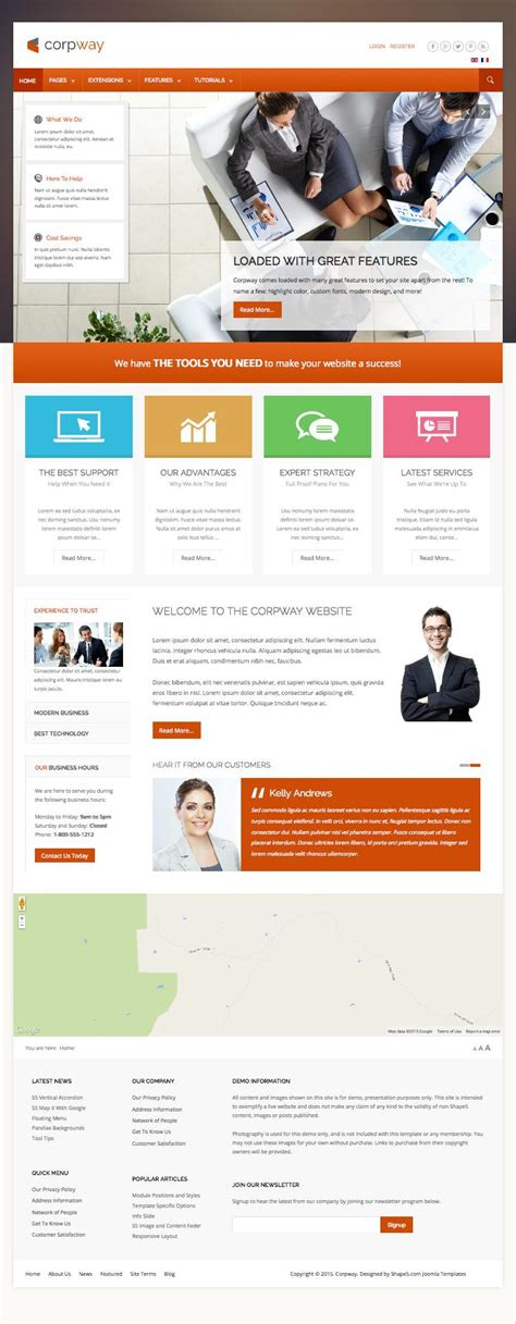 template joomla business corpway joomla template for business or corporations