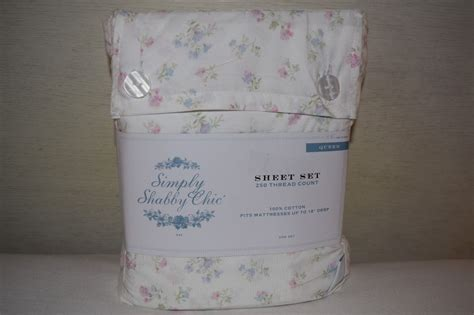 rachel ashwell simply shabby chic queen sheet set vtg cottage pink floral pastel ebay