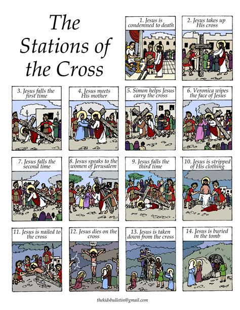 printable images stations of the cross free coloring pages of 14 stations of the cross