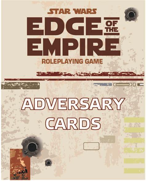 wars ffg npc card template gaming aids triumph despair