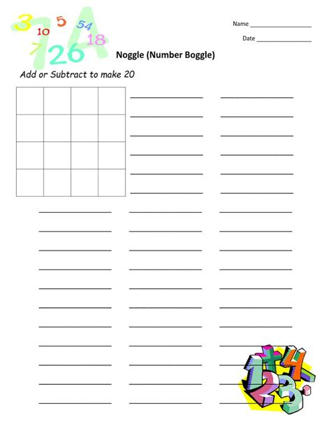 Boggle Worksheet by 1000 Images About Math Boggle On