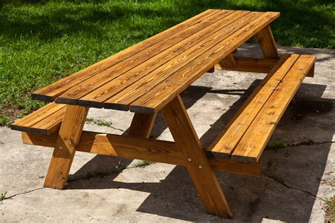 picnic bench table diy outdoor picnic tables plans free