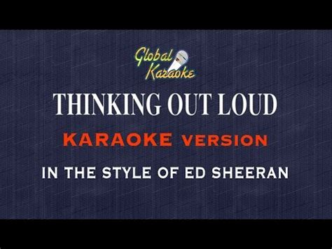 download mp3 ed sheeran thinking out loud skull thinking out loud global karaoke video in the style of