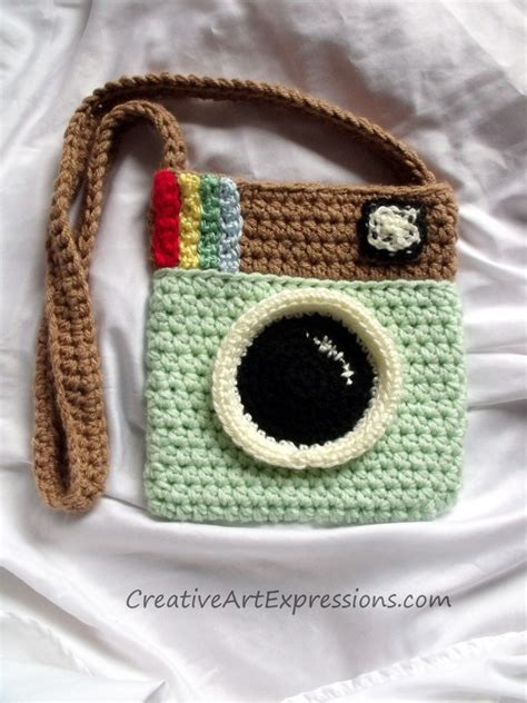 crochet pattern instagram purse creative art expressions hand crocheted instagram purse
