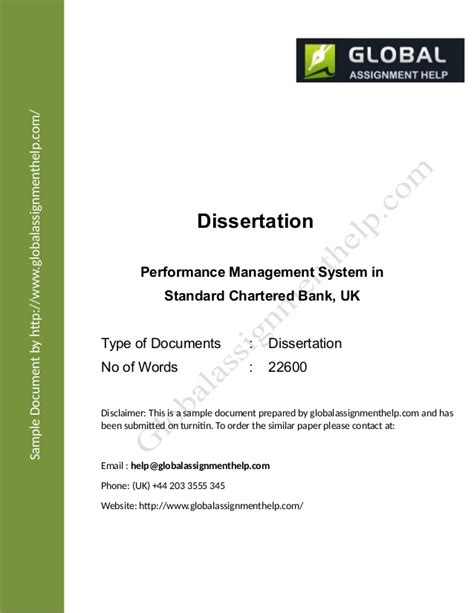 Mba Dissertation On Performance Management by Dissertation On Performance Management Of