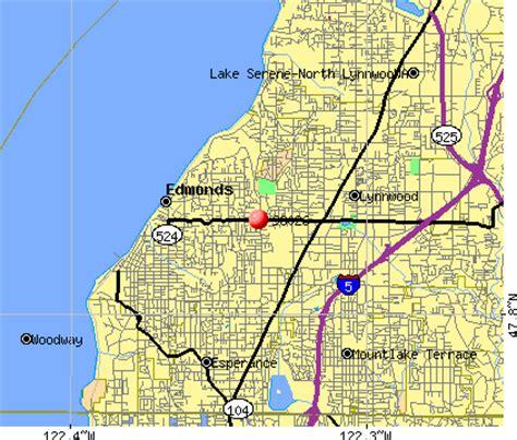 zip code map edmonds wa edmonds washington map washington dc map