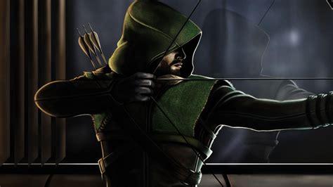 desktop wallpaper green arrow dc comics art  hd