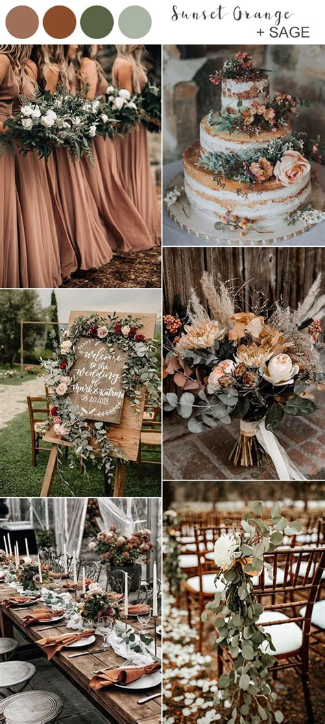 fall wedding colors   youll fall  love