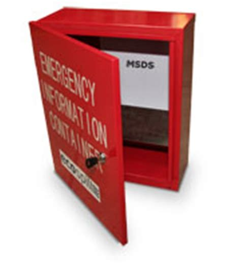 Msds Storage Cabinet by Msds Document Storage Boxes By Ecospill Pty Ltd