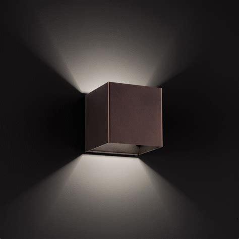 Lu Led Laser laser cube 10x10 ap9 ap11 led wall light by studio italia design