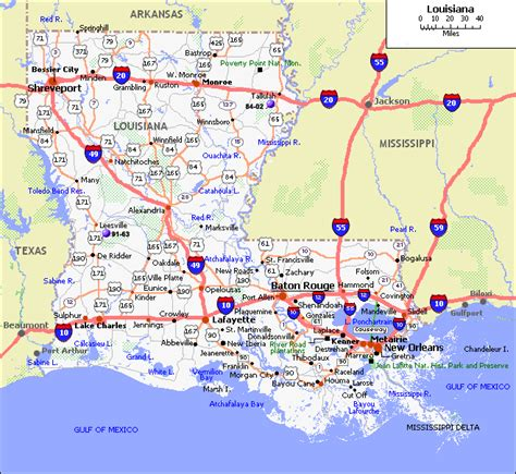 map  louisiana america maps map pictures