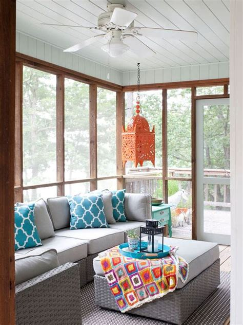 screened in porch decor 27 screened and roofed back porch decor ideas shelterness