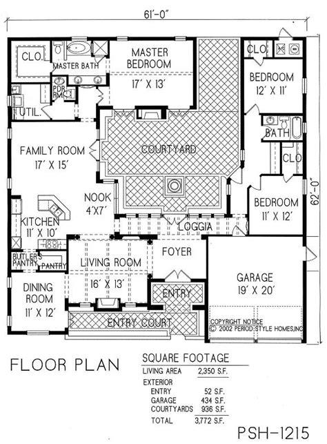 courtyard house plans pinterest home decor