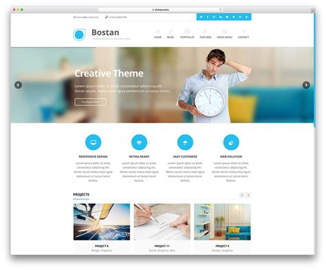 theme with page templates 50 best business themes 2019 colorlib