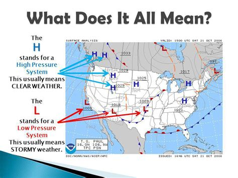 what does map stand for reading a weather map ppt
