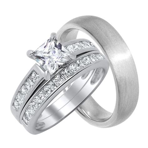 high quality jewelry cz engagement and wedding rings