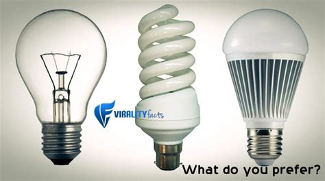 Know The Difference Between Incandescent Cfl And Led Bulbs Difference Between Led And Incandescent Light Bulb