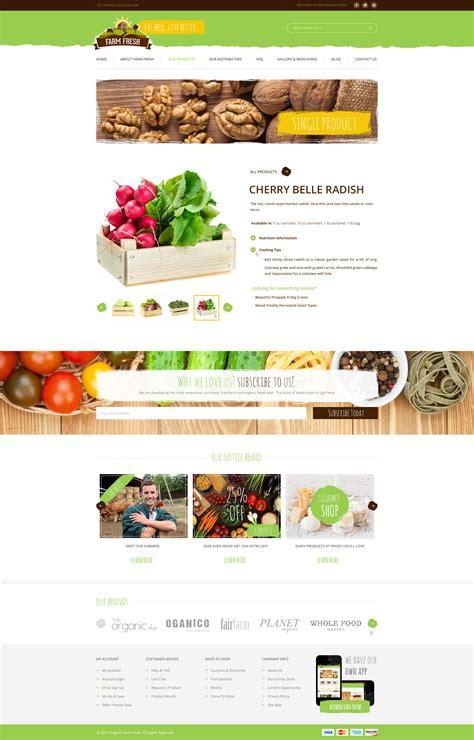 themeforest organic food farm fresh organic products psd template by diadea3007