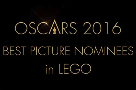 what are the nominees for the 2016 best picture oscar oscar 2016 best picture nominees in lego the brick fan