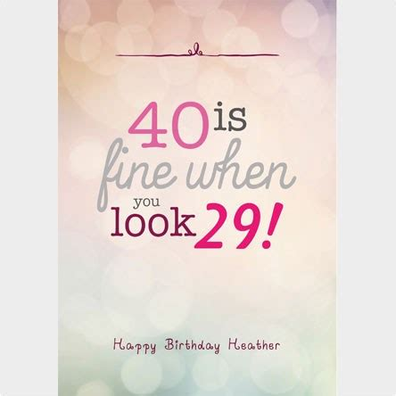 40th Birthday Cards For