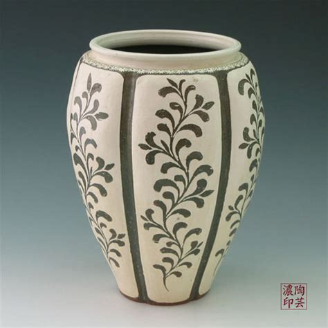 pottery design ideas 500px 500px pottery floor vase buncheong gray with inlaid