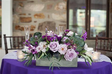 trendy purple wedding table decorations table