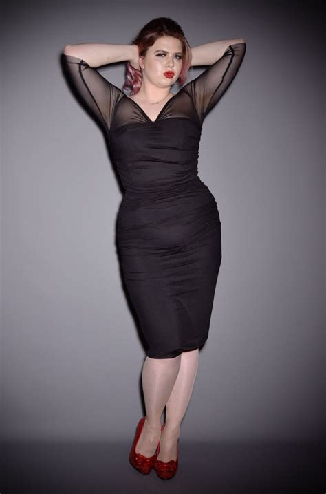 femme fatale dress  film noir inspired wiggle dress
