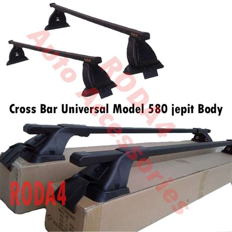 Cross Bar Hitam Jepit Roof Rail Honda Hrv 2002 jual cross bar kaki rak mobil model 580 jepit roof rack roof rail cross bar