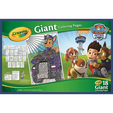 amazon com crayola paw patrol giant coloring pages toys
