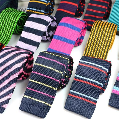knit ties fashion mens knit ties colorful new 6cm narrow width