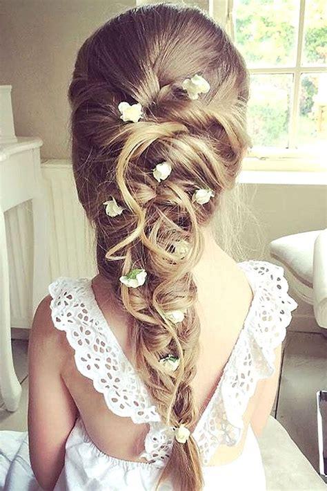 flower girl braided hairstyles for weddings 33 cute flower girl hairstyles 2017 update girl