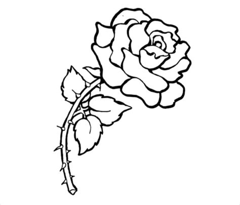 rose coloring pages pdf rose tattoo outline sketch coloring page