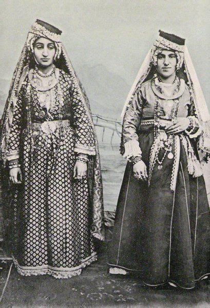 Dress Amida armenian traditional festive costumes from diyarbekir