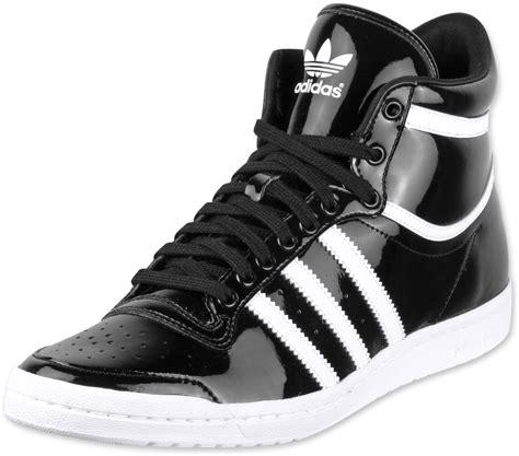 adidas top ten hi sleek shoes black white black