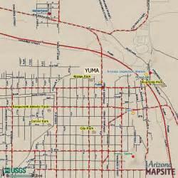 yuma arizona tourist map yuma az mappery